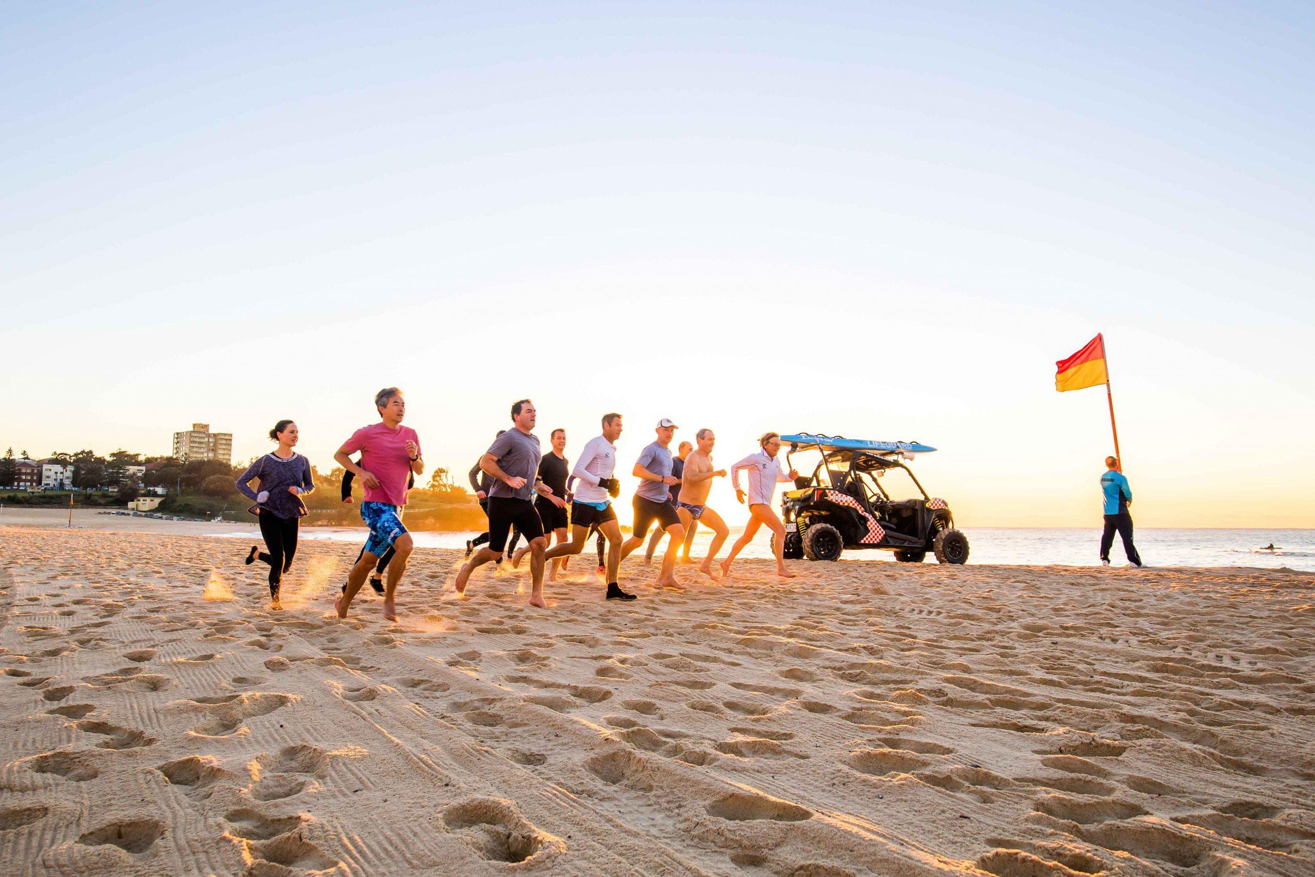 Training on soft sand